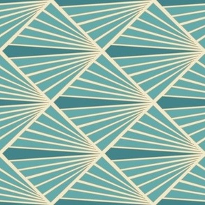 Art Deco Fans - Turquoise - ROTATED