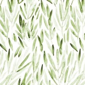 Lighter kelly green eucalyptus leaves - watercolor tropics for modern home decor p171-1-7