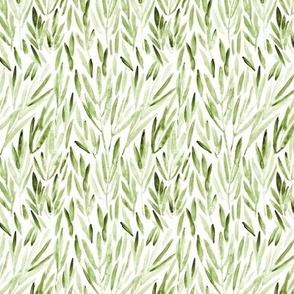 Small scale khaki eucalyptus - watercolor leaves p171