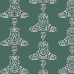 Meditation on Green (Swatch Sized)