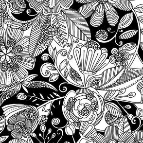 Black and White garden