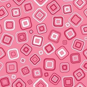 Pink Tonal Squares