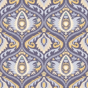 ogee wallpaper violet   large jumbo scale