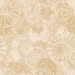 neutral geometric mandalas wallpaper