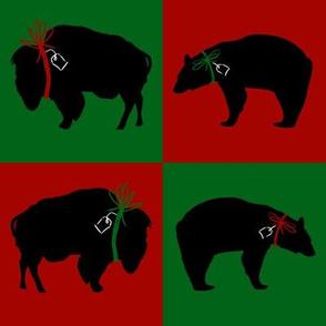 Big Black Bear and Buffalo Squares
