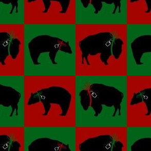 Black Bear and Buffalo Squares