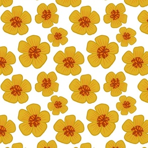 Arizona Yellow Poppy Repeating Floral Pattern