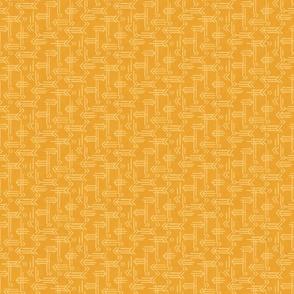 Yellow Gold Geometric Arrows - Small Scale by Angel Gerardo