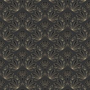 Art Deco Neutral Geometric - Medium