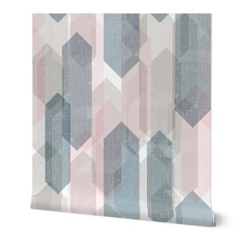 Deco Mod Hex Reflections M+M Sorbet Large by Friztin