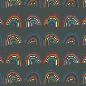Arizona Monsoon Textured Rainbow Pattern