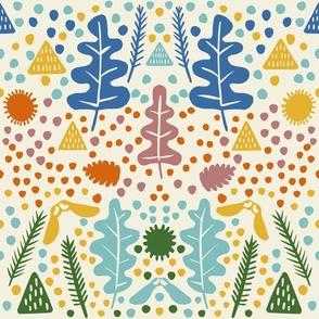 Fall woodland floor