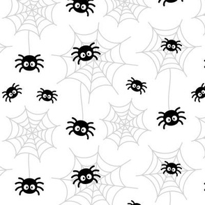spiders and webs black and white » halloween