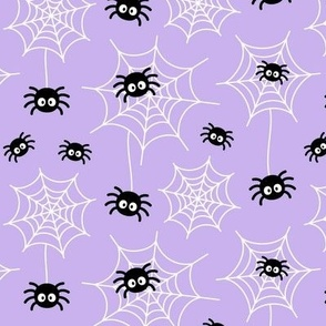 spiders and webs pastel purple » halloween