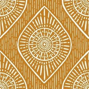 Tribal Eye Boho Desert Sun Bronze
