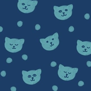 Kitten Heads on Navy