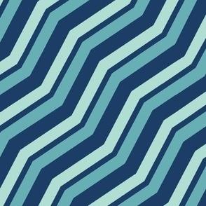 Diagonal Chevron in Blues