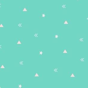 XS // Neutral Geometric Teal