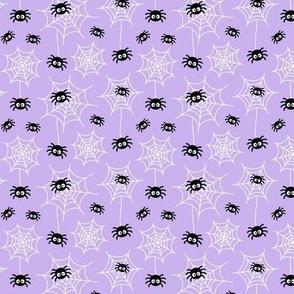 tiny spiders and webs pastel purple » halloween