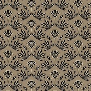 Art Deco Geometric - Medium - Mushroom