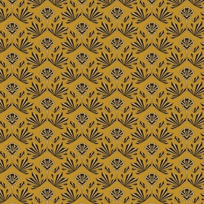 Art Deco Geometric -Small - Mustard