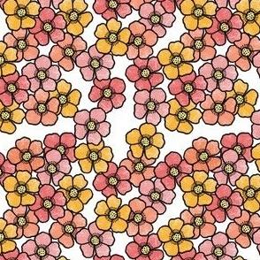 Colorful Flower Burst