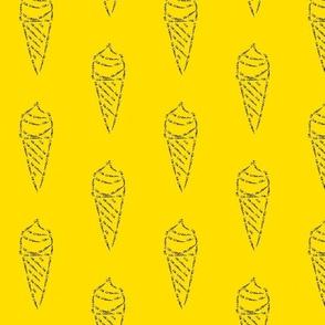 icecream calligram yellow