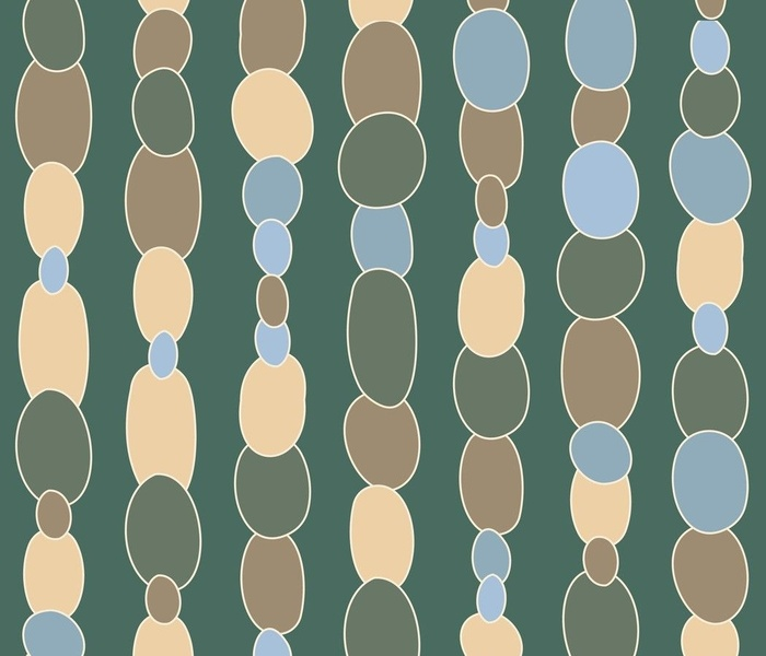 Polished stones in cool blues, greens and greys: large scale for apparel, soft furnishings and home décor items