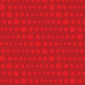 Dotty Stripe on Deep Red
