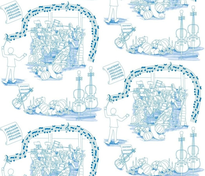 Holiday Orchestra Toile