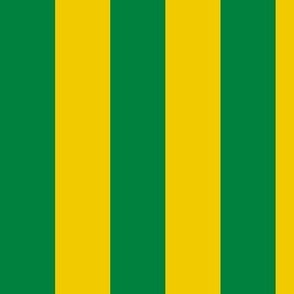 Green and Yellow Stripe - Goodnight Moon Curtains - 1.5 inch