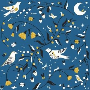 Gathering Berries - Blue