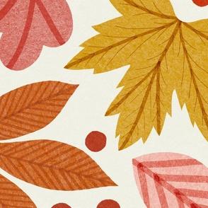 Bright Autumn Leaves Large
