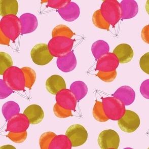 Bright Pink Purple Balloons