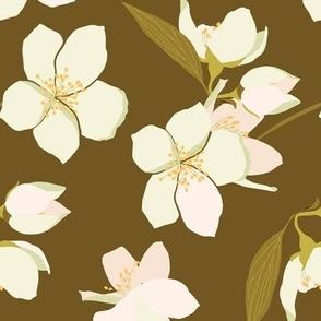 Pretty Blossoms in peach and ochre