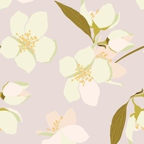 Pretty Blossoms in peach and mint