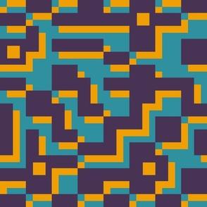Lines Dancing 1980s flat colors
