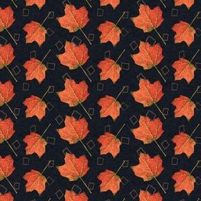 Fall Leaves-graphite and mushroom (large)