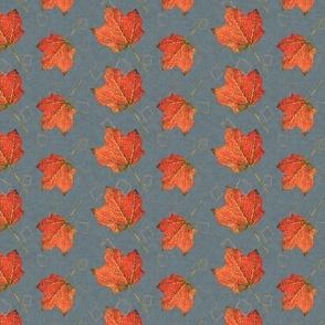 Fall Leaves-slate and fog (large)