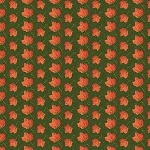 Fall Leaves-olive and emerald (medium)