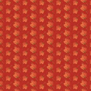 Fall Leaves-poppy and mustard (medium)