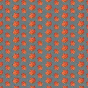 Fall Leaves-slate and fog (medium)
