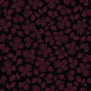 sweet petite floral blender pattern in black pink