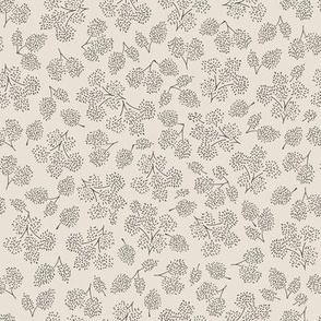 sweet petite floral blender pattern in gray