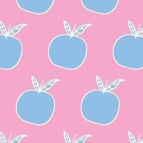 Blue Apple on Pink