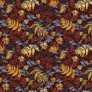 Autumn Mountain ash red and black small scale