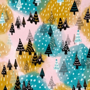Joy in the winter  forest large