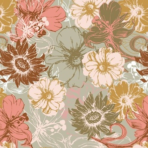 Flower Power Florals sunflowers + daisies + hibiscus
