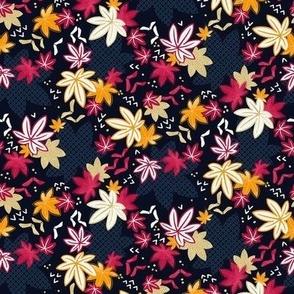 Japanese Maple Autumn Leaves / Tiny Scale