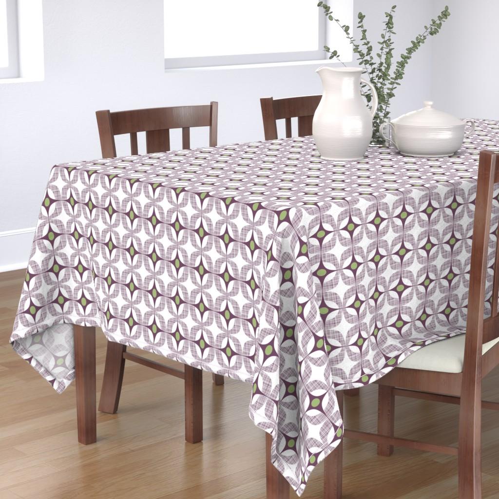 Bantam Rectangular Tablecloth featuring Blackcurrant Box by spellstone
